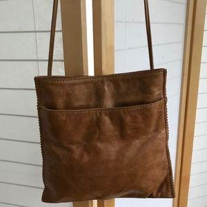 HOBO vintage tan leather crossbody bag